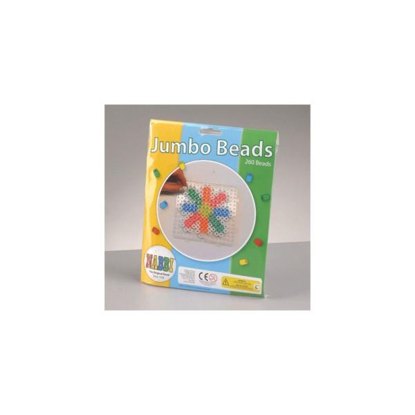 Nabbi®Jumbo Beads -Bügelperlen mit Stiftplatte, Ø 10mm 260 Stk.,Standard Mix