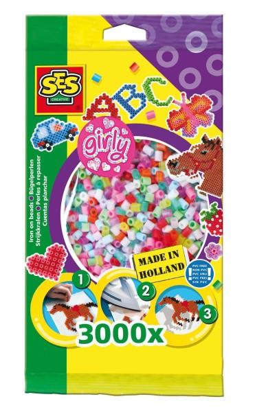 SES Creative Bügelperlen 3000 Stück Girly