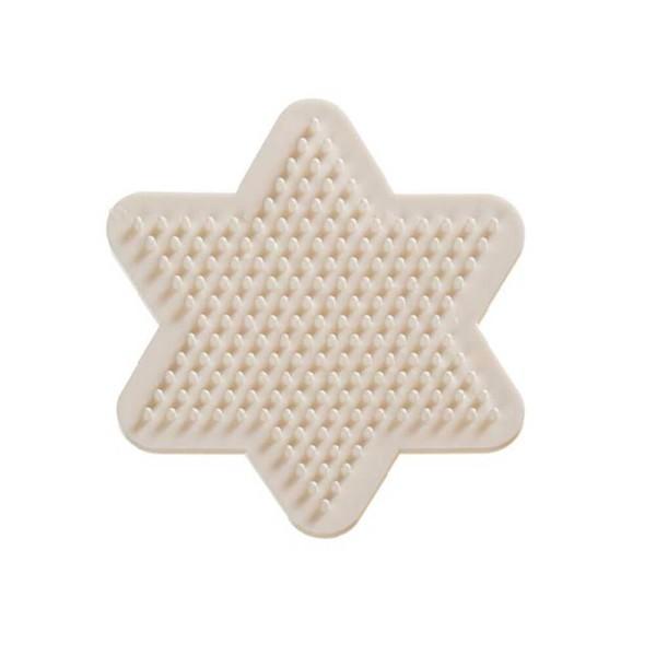 Nabbi® Bio Bügerlperlen Stiftplatte Stern 9cm, weiß