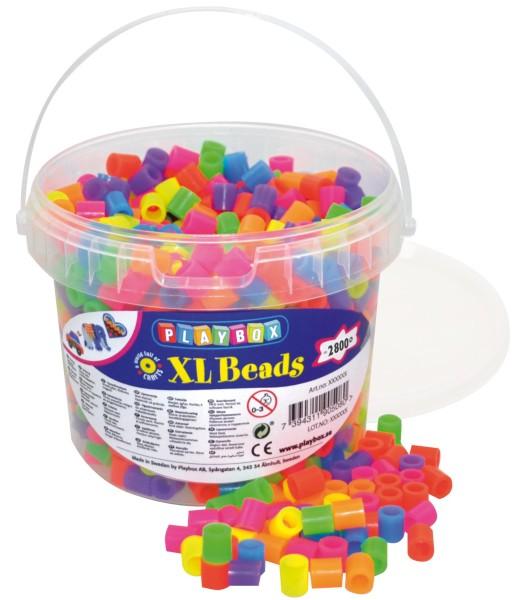 Playbox Eimer 950 Stück XL-Bügelperlen Neon