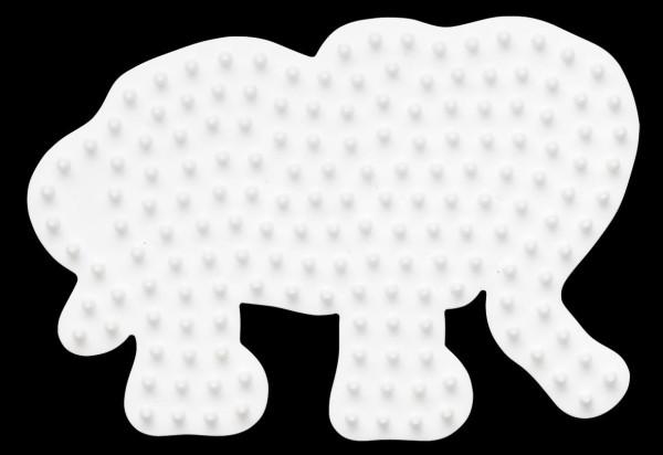 Hama Stiftplatte Elefant klein weiß
