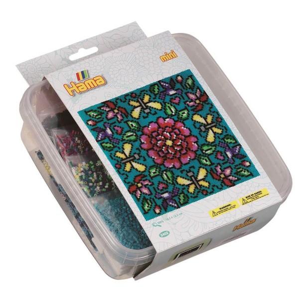 Hama Mini-Bügelperlen Box Blumen