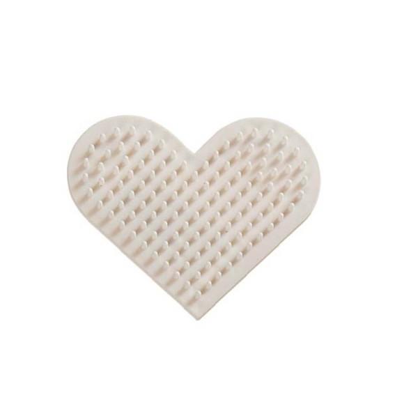 Nabbi® Bio Bügelperlen Stiftplatte Herz 8cm, weiß
