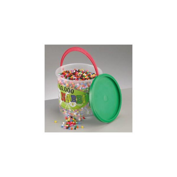 Nabbi® Bügelperlen im Eimer, Ø 5mm 10.000 Stk.,Standard Mix