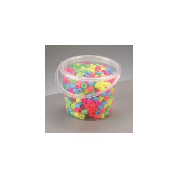 Nabbi®Jumbo Beads -Bügelperlen im Eimer, Ø 10mm 550 Stk.,Pastell Mix