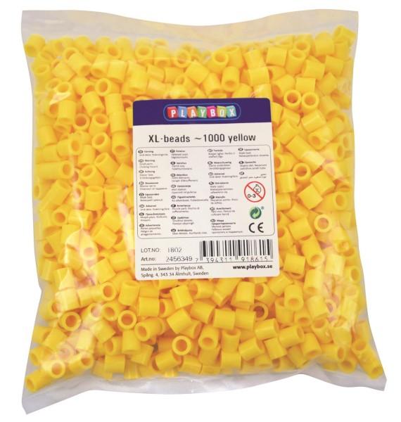 Playbox XL-Perlen 1000 Stück gelb