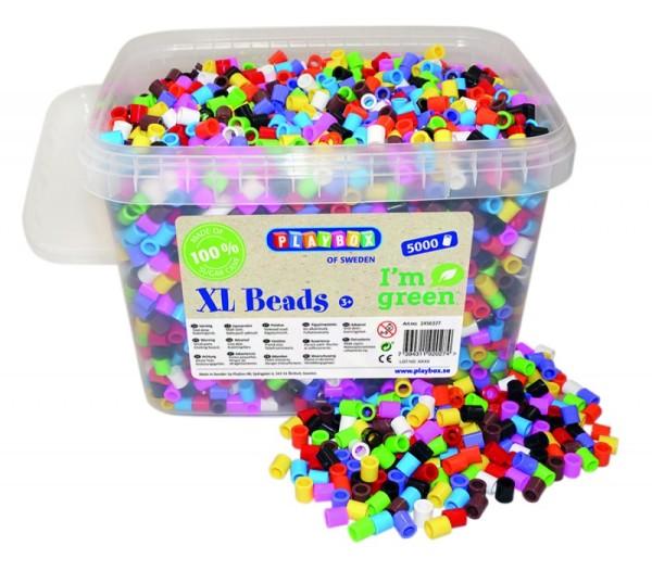 Playbox Dose 5000 Stück Maxi Perlen bunt umweltfreundlich