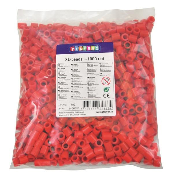 Playbox XL-Perlen 1000 Stück rot