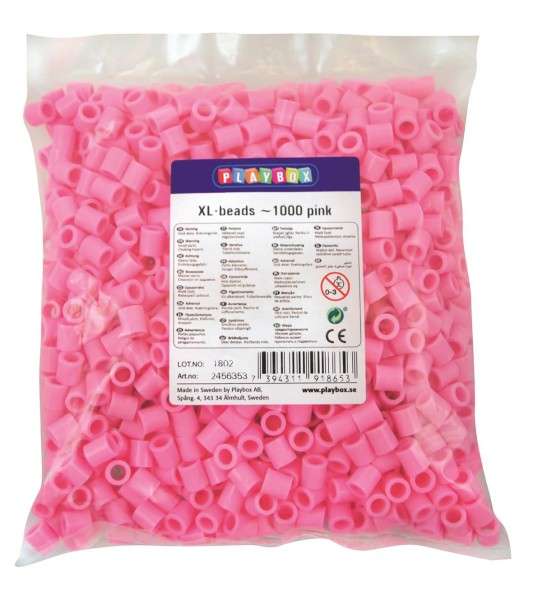 Playbox XL-Perlen 1000 Stück rosa