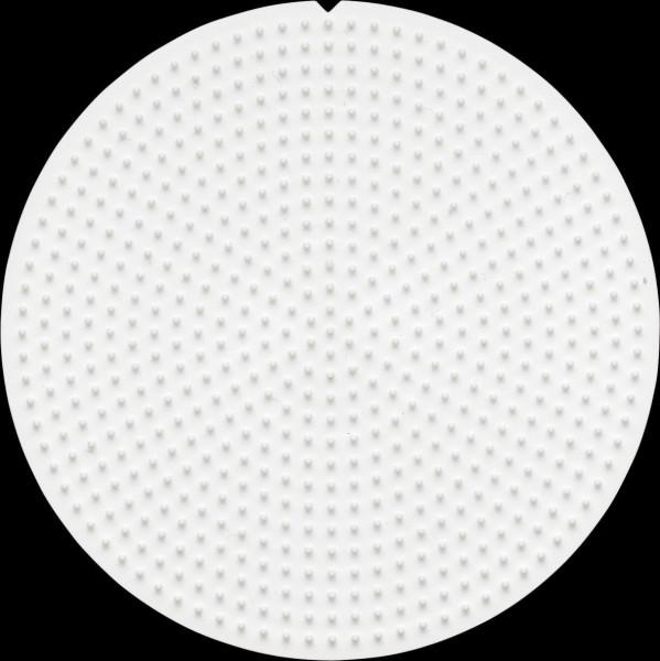 Hama Stiftplatte Kreis weiß für Mini-Bügelperlen