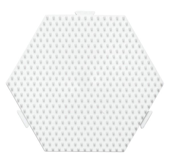 Hama Stiftplatte Sechseck medium weiß, erweiterbar