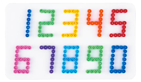 Hama Stiftplatte Zahlen weiß