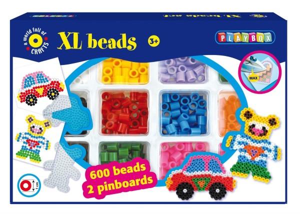 Playbox Bügelperlenset XL-Perlen Auto &Teddy