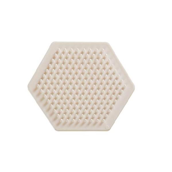 Nabbi® Bio Bügelperlen Stiftplatte Hexagon 9cm, weiß