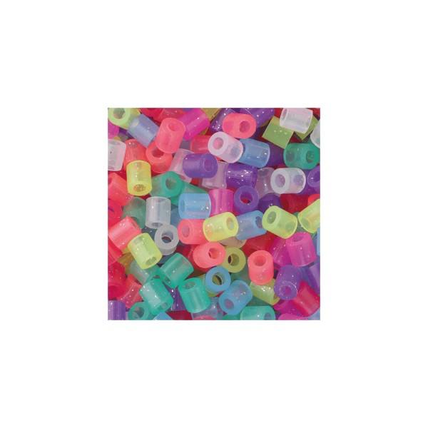 Nabbi® Bügelperlen Ø 5mm, 20.000 Stk., Glitter Mix