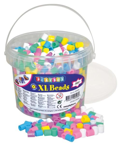 Playbox Eimer 950 Stück XL-Bügelperlen Pastell
