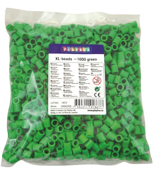 Playbox XL-Perlen 1000 Stück grün
