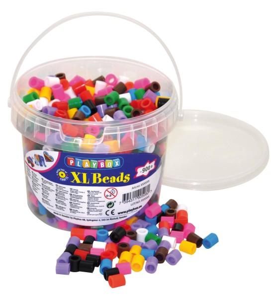 Playbox Eimer 950 Stück XL-Bügelperlen Mix
