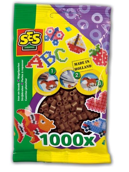 SES Creative Bügelperlen 1000 dunkelbraun